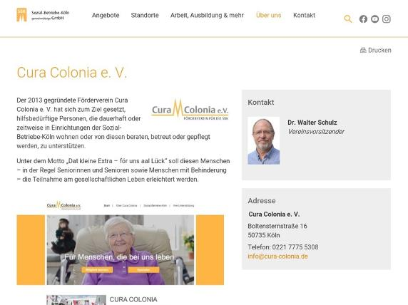 Screenshot von https://sbk-koeln.de/uber-uns/forderverein-cura-colonia/