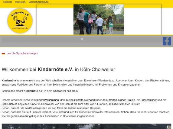 Screenshot von https://www.kindernoete.de/